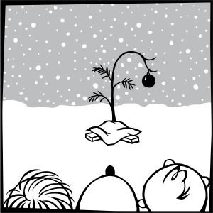 Charlie Brown Christmas Tree Image.A Charlie Brown Christmas
